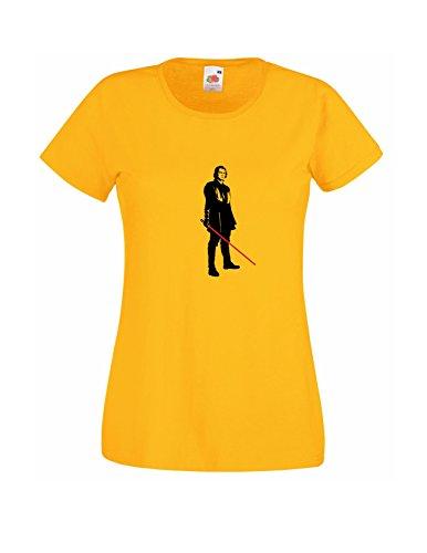 Sabre Décalque T Avec Jaune Star For Young Gratuit Cadeau shirt Ready Wars Skywalker Chemise Anakin Jedi Laser Femmes Hasard Au Battle Style wYY0rqx1