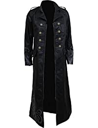 Spiral - JUST Tribal - Gothic Trench Coat PU-Leather Corset Back