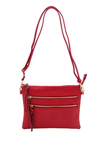 Isabelle Functional Women's Crossbody Shoulder Bag (Red)