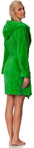 Merry Style Albornoz con Capucha para Mujer Agnes Verde