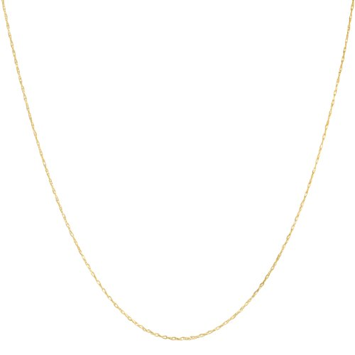 Gold Thin Rope (Solid 10k Yellow Gold 0.8mm Thin Delicate Rope Chain (16)