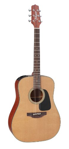 Takamine Pro Series 1 P1D Dreadnought Body Acoustic Electric Guitar with Case, Natural