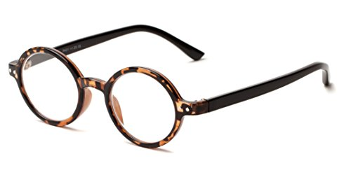 Readers.com The Bookworm +1.50 Brown Tortoise/Black Affordable Round Frame Best Sellers Reading - Affordable Sunglasses