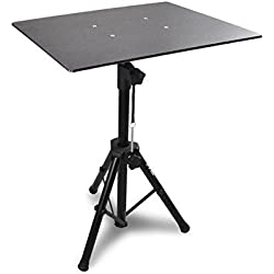 "Pro DJ Laptop, Projector Stand - Adjustable Laptop Stand, Computer DJ Equipment Studio Stand Mount Holder, Height Adjustable, Laptop Projector Stand, 23"" to 41"", Good For Stage or Studio - Pyle (PLPTS3)"