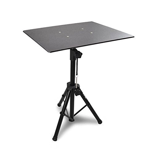 Pyle Pro DJ Laptop Stand, Projector Stand, Adjustable Laptop Stand, Computer DJ Equipment Studio Stand Mount Holder, Height Adjustable, Laptop Projector Stand, 23