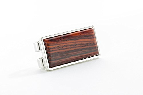 (Money Clip Rectangle with Solid Wood Top)