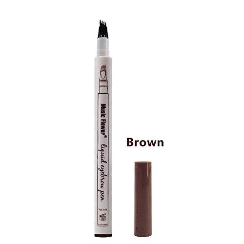 Beauty HAO Eyebrow Tattoo Pen, Waterproof Natural Convenient Long-Lasting Eyebrow Pencil(02#Brown)