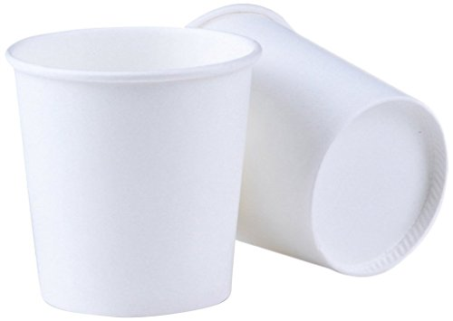 k 4 OZ Espresso Cups Luckypack Sampling Paper Coffee Cups For Hot and Cold Beverages Plain White Disposable Travel To Go Small Cups ()