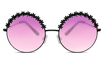 Cheapass Gafas de Sol Redondas Negras Oversized XXL Purple ...