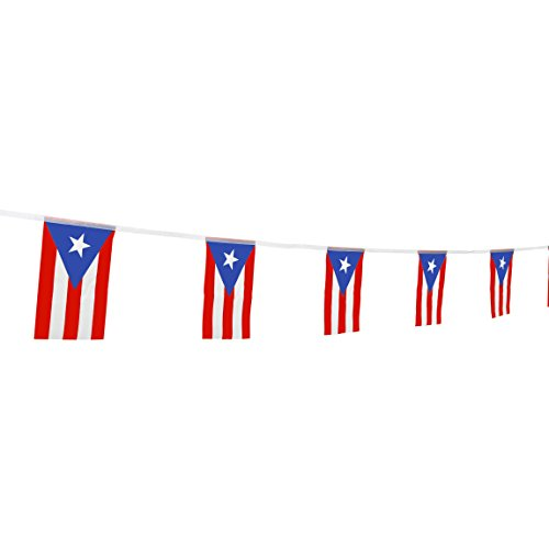 TSMD Puerto Rico Flag, 100 Feet Puerto Rican Flag National Country World Flags Banner,Party Decorations for Olympics,Bar,School Sports Events,International Festival Celebration(8.2