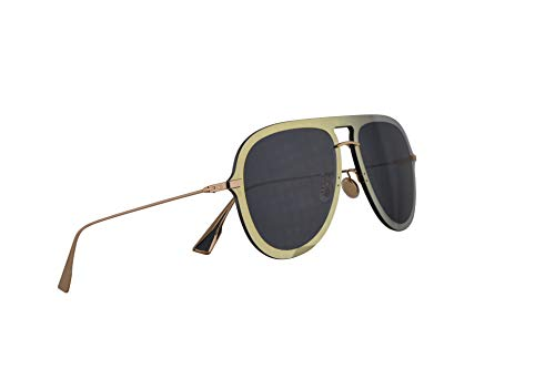 Christian Dior DiorUltime1 Sunglasses Gold Blue w/Blue Mirror Shaded Gold Lens 57mm LKSA9 Diorultime 1 ()