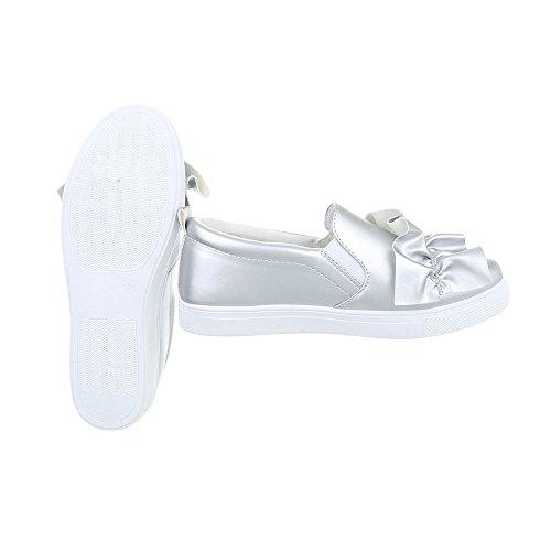 Argento da Design Donna G Piatto 26 Scarpe Ital Low Sneakers Sneaker 8pxg4