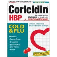CORICIDIN HBP COLD/FLU TABS Size: 10
