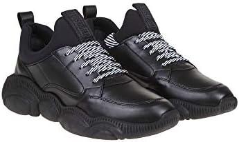 MOSCHINO Luxury Fashion Homme MB15103G1AGA500A Noir Cuir Baskets | Printemps-été 20