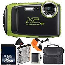 Fujifilm FinePix XP130 Waterproof Digital Camera 2018 Version (Lime Green) Bundle with 32GB Memory Card - International...