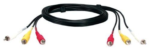 QVS RCA3AV-06 6 ft. Triple-RCA Composite Audio & Video Cable ()