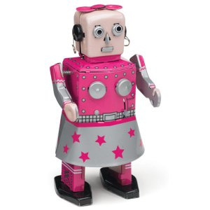 Venus Robot Girl, Metal Robot Winds Up, Tin Toy Collection, 5.5 by Classic Tin Toy (Image #1)