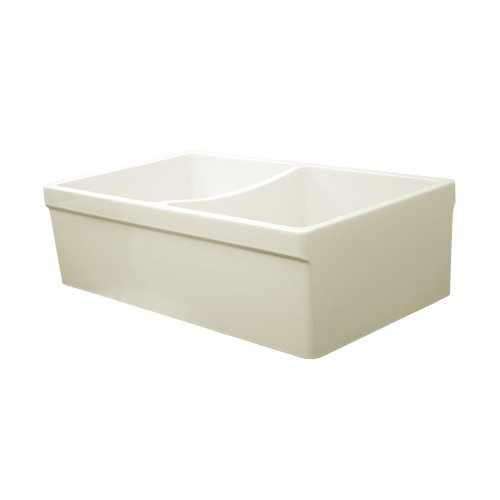 Whitehaus Home Indoor Farmhouse Kitchen Bathroom Quatro Alcove Reversible Double Bowl Fireclay Sink With 2