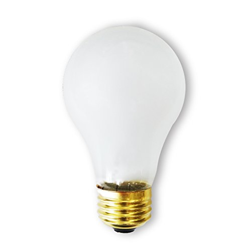Bulbrite 60A/RS-2PK 60 Watt Incandescent A19 Rough Service Bulb, Frost, 2 Pack ()