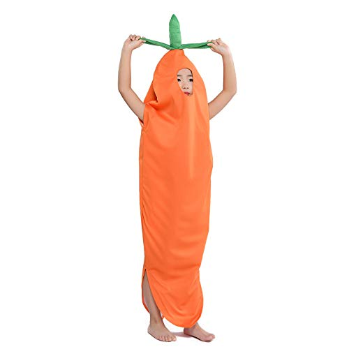 StarDY Food Fruits Veggies Child Carrot Halloween Fancy Dress Party Costumes (Carrot, M) -
