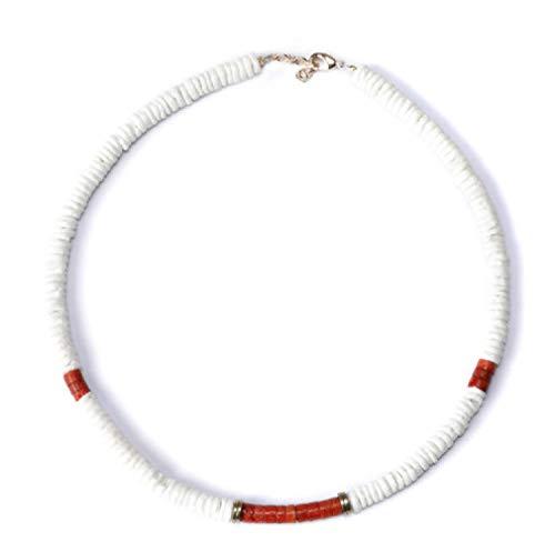 - Ras de Cou Desert Dore Blanc Noir natural shell beaded ces fashion ker ce bead women