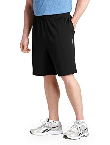 Reebok Big & Tall Play Dry Tech Mesh Shorts (2XL, Black)