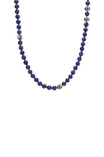 (Forziani SUMMIT Natural Navy Blue Lapis Lazuli Beaded Necklace for Men - Zen Spiritual Buddhist Necklace - 32