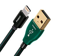 AudioQuest LTNUSBFOR01.5 Forest 4.9' Lightning-to-USB Charge-and-Sync Cable