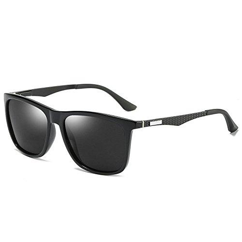 moda black gafas de Plateado sol polarizadora nueva sol conducción Gafas de de conducir qtg8wxT7W