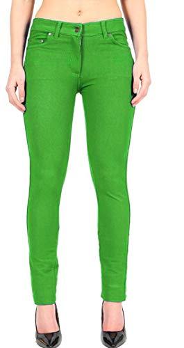 unita Janisramone Tinta Pantaloni Green Apple Donna Jeggings Uar0cTa