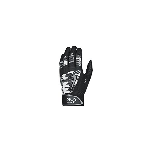 Nike MVP Edge Baseball Batting Glove Black/Wolf Grey Size Large