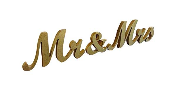 Amazon.com: Oro Mr & Mrs boda señal para novia ...