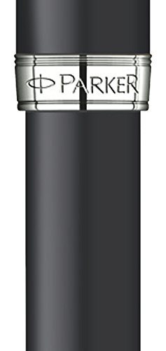 Parker Matte Black Lacquer with Chrome Colour Trim, Rollerball Pen with Fine Black refill (S0818110) by Parker (Image #1)