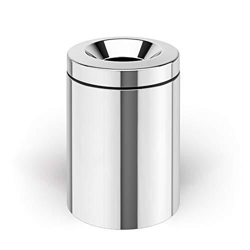Lineabeta Waste Bin, Steel, Polished Stainless Steel, 225x255x290 VD5355.29