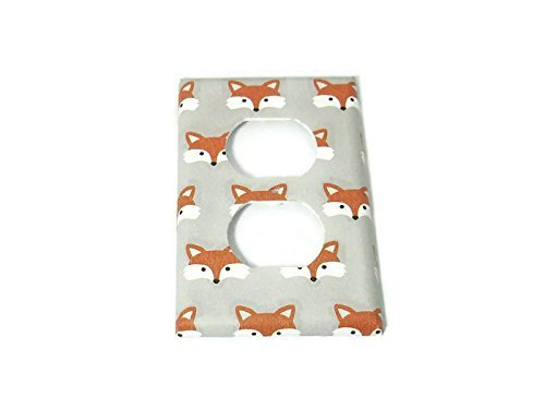 Outlet Light Switch Plate Little Fox - Outlet Woodland