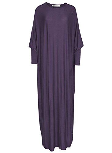 Janisramone Womens Maxi Abaya Jersey Kaftan Jilbab Farasha New Plain Islamic Dress Burkha qFU1qSr