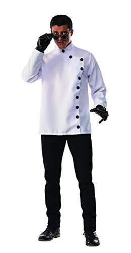 Pizazz! Men's Evil Scientist, White, -