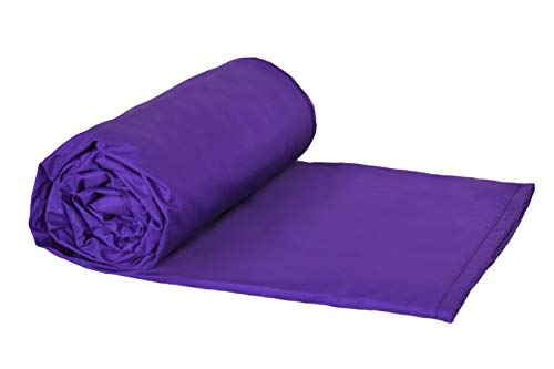 WEIGHTED BLANKETS PLUS LLC - CHILD SMALL WEIGHTED BLANKET - PURPLE - COTTON/FLANNEL (48