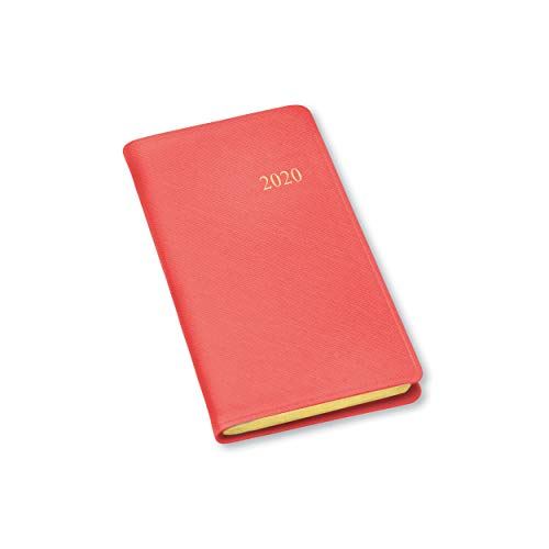 Leather Weekly - 2020 Gallery Leather Pocket Weekly Planner Key West Salmon 6