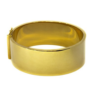 "Or jaune 14 carats 25 mm-jonc-JewelryWeb 7 """
