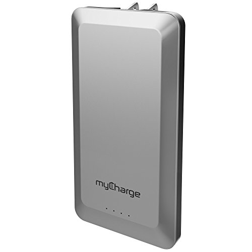 myCharge Home&Go Portable Charger 8,000mAh/2.4 Dual USB Port External Battery Pack Power Bank Foldable Wall Plug (Apple iPhone Xs, XS Max, XR, X, 8, 7, 6, SE, 5, Samsung Galaxy, LG, Motorola, HTC)