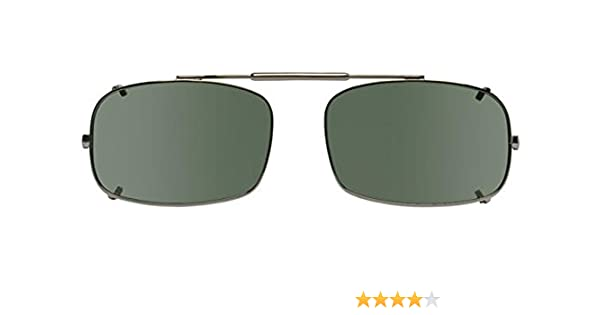 9c1afc3da53 Visionaries Polarized Clip on Sunglasses - DRX Rec - Bronze Frame - 54 x 35  Eye at Amazon Men s Clothing store