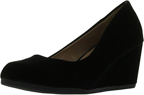 Forever Link Women's Patricia-02 Wedge Pumps Shoes,Black Suede,10 by Forever (Image #4)'
