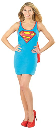 Rubie's DC Comics Justice League Superhero Style Adult Dress with Cape Supergirl, Blue, Large Costume