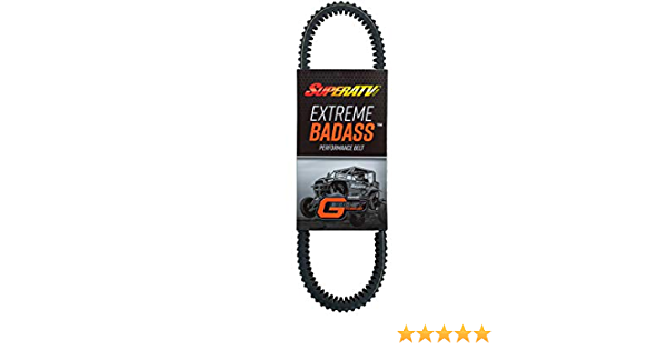 SuperATV Heavy-Duty Extreme Badass Drive Belt for 2008-2014 Polaris RZR 800 Built for high temps and extreme abuse!