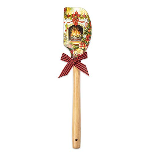 Brownlow Gifts Silicone Spatula, 12.5-Inch, Home for Christmas