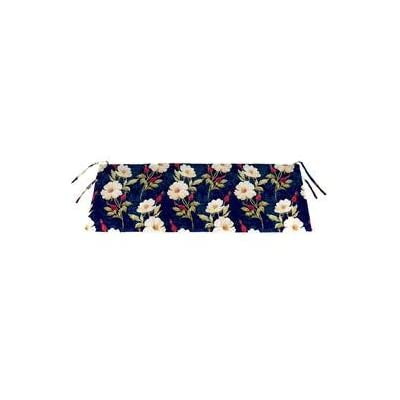 Plow & Hearth Polyester Classic Swing/Bench Cushion - 41 x 17 x 3 Rose Garden : Garden & Outdoor