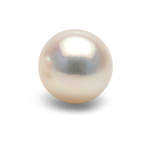 Single Cultured White Japanese Saltwater Akoya Loose Pearl, 6.0-6.5mm, AAA Quality, Half-Drilled