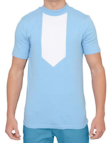 Adult Halloween Costume Kip's Uncle Rico Shirt Blue ()
