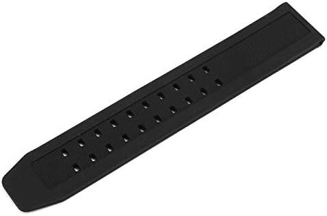 ROUHO Montre Bracelet en Caoutchouc De Remplacement Bracelet pour Luminox 23Mm FP. L.ES W/Boucle